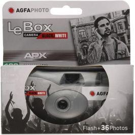 AGFA LeBox Black/White jednorázový fotoaparát s bleskem 400/36