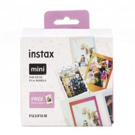 FUJIFILM INSTAX COLORFILM MINI GLOSSY set 3 filmů Deco Bundle