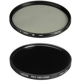 HOYA filtr polarizační cirkulární HD 58 mm + HOYA ND 1000x PRO 58 mm