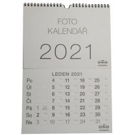 Kalendář na vlastní foto MALÝ KARTON 2021 šedý