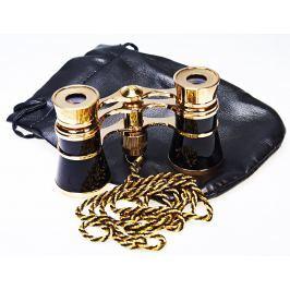 DORR DANUBIA Opera 3x25 černá-zlatá - divadelní kukátko