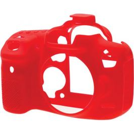EASYCOVER silikonové pouzdro pro Canon EOS 750D červené