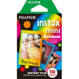 FUJIFILM INSTAX COLORFILM MINI GLOSSY RAINBOW