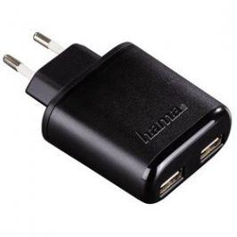 HAMA nabíječka 2x USB AutoDetect 4,8A černá