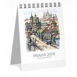 Kalendář Leon - PRAHA 2019 akvarel stolní mini