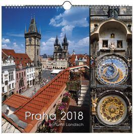 Kalendář Leon - PRAHA 2019 foto nástěnný