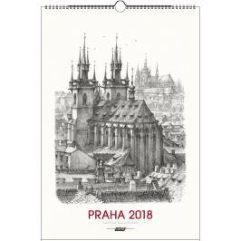Kalendář Leon - PRAHA 2019 grafika nástěnný mini
