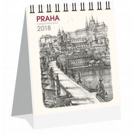 Kalendář Leon - PRAHA 2019 grafika stolní micro