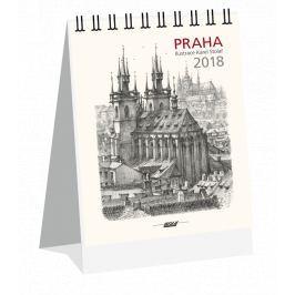 Kalendář Leon - PRAHA 2019 grafika stolní mini