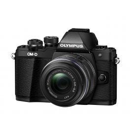 OLYMPUS E-M10 Mark II + 14-42 černý +LOWEPRO Hatchback16L AW červený ZDARMA Digitální fotoaparáty