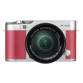 FUJIFILM X-A3 růžový + XC 16-50 mm OIS II Digitální fotoaparáty