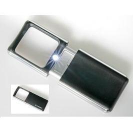 BRESSER vysunovací lupa 3x s LED osvětlením