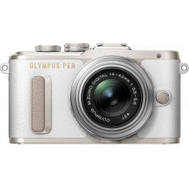 OLYMPUS E-PL8 bílý + 14-42 mm EZ  stříbrný Digitální fotoaparáty