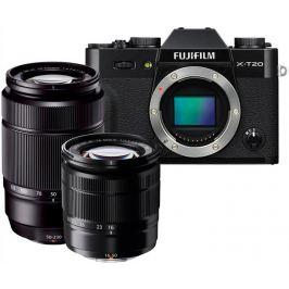 FUJIFILM X-T20 černý + 16-50 mm II + 50-230 mm