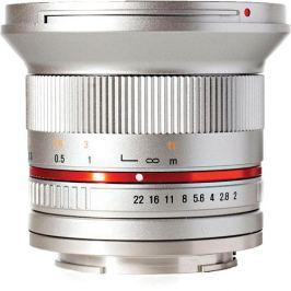 SAMYANG 12 mm f/2 NCS CS pro Canon EOS M stříbrný