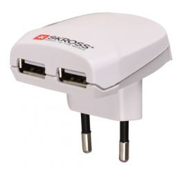 SKROSS Euro USB nabíjecí adaptér, 2x USB a 2100mA výstup