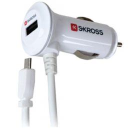 SKROSS Midget Plus USB nabíjecí autoadaptér, micro USB + 2100mA výstup
