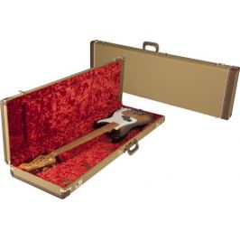 Fender Multi-Fit Hardshell Case, Tweed w/ Red Poodle Plush Interior PB