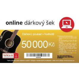Kytary.cz Online dárkový šek 50 000 Kč