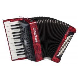 Hohner Bravo II 60 Red Silent Key Klávesové akordeony