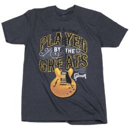 Gibson Played By The Greats T-Shirt Charcoal S