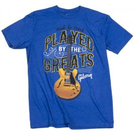 Gibson Played By The Greats T-Shirt Royal Blue M