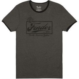 Fender Beer Label Ringer T-Shirt Dark Grey XL