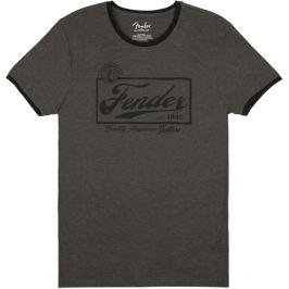 Fender Beer Label Ringer T-Shirt Dark Grey XXL