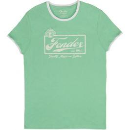Fender Beer Label Ringer T-Shirt Surf Green L