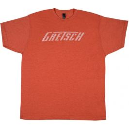 Gretsch Logo T-Shirt Heather Orange XL