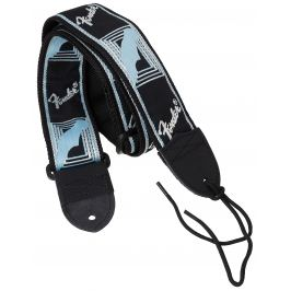 Fender Monogramm Strap Black-Grey-Blue