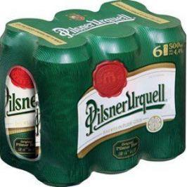 Pilsner Urquell 0,5l multipack 6x0,5l plech