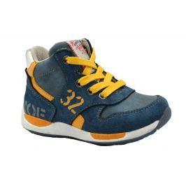 Bugga Chlapecké kotníkové tenisky - modro-žluté