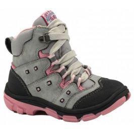 Bugga Dívčí zimní boty - šedo-růžové