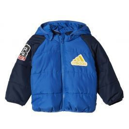 adidas Chlapecká prošívaná bunda - modrá