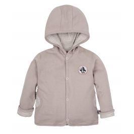 G-mini Dětský oboustranný kabátek Krtek a kolo - béžový