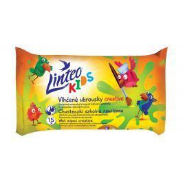 Linteo Kids Vlhčené ubrousky Creative 15 ks, 1-vrstvé