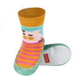 SOXO® Chlapecké ponožky s podrážkou Prasátko - barevné