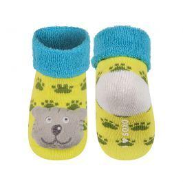 SOXO® Chlapecké ponožky s medvídkem - žluto-modré