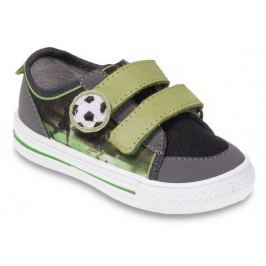 Befado Chlapecké tenisky s fotbalovým míčem Funny - zeleno-šedé