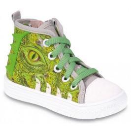 Befado Chlapecké kotníkové tenisky s krokodýlem Funny - zelené
