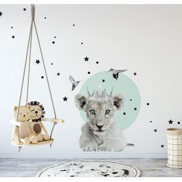 Dekornik Samolepka na zeď Malý lví král, 55x64 cm