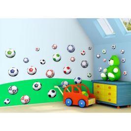Mint Kitten Samolepka na zeď Fotbalové míče, 0,5 m