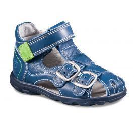 Richter Chlapecké celokožené kotníkové sandály - modré