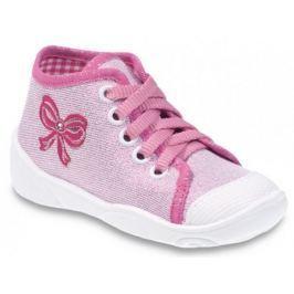 Befado Dívčí kotníkové tenisky s mašličkou Maxi - růžové