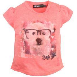 Dirkje Dívčí tričko s pejskem - růžové