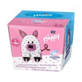Bella Happy Dětské papírové kapesníky, 80 ks mix - 3 druhy