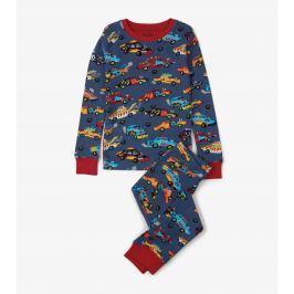 Hatley Chlapecké pyžamo s autama Monster Cars - šedé