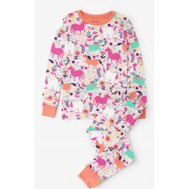 Hatley Dívčí pyžamo s koníky - barevné
