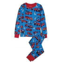 Hatley Chlapecké pyžamo se stavebními auty - modré